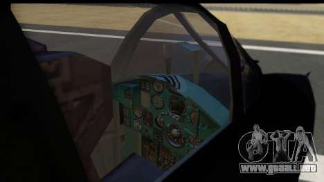 Mikoyan-Gurevich MIG-31 China Air Force para GTA San Andreas vista posterior izquierda