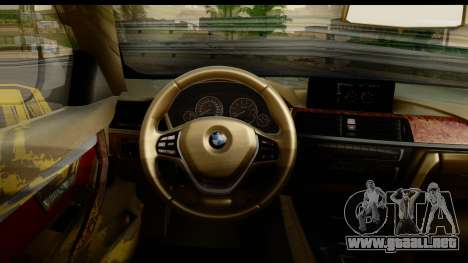 BMW 335i Coupe 2012 para visión interna GTA San Andreas