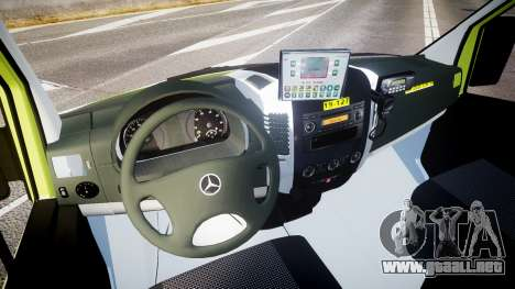 Mercedes-Benz Sprinter 311 cdi Belgian Ambulance para GTA 4 vista hacia atrás