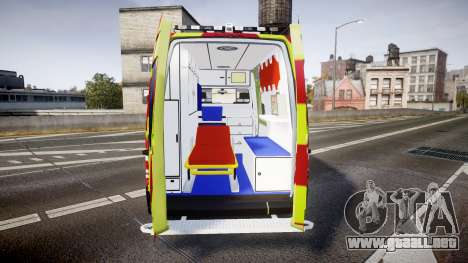 Mercedes-Benz Sprinter 311 cdi Belgian Ambulance para GTA 4 vista interior