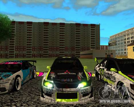 Mitsubishi Lancer Evolution IX Monster Energy DC para GTA San Andreas left