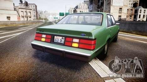 Ford LTD LX 1985 v1.6 para GTA 4 Vista posterior izquierda