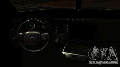 Camion Blindado para GTA San Andreas vista posterior izquierda