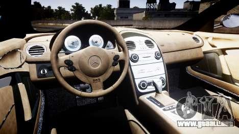 Mercedes-Benz McLaren SLR 2005 [EPM] para GTA 4 vista hacia atrás
