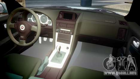 Nissan Skyline R34 GT-R M-Spec Nur para GTA 4 vista lateral
