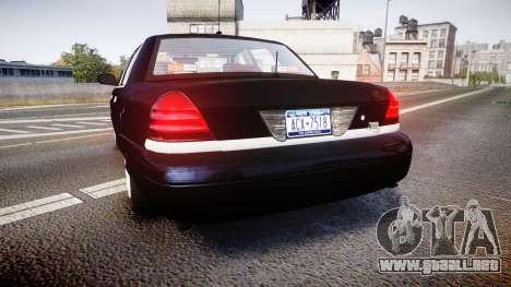 Ford Crown Victoria NYPD Unmarked [ELS] para GTA 4 Vista posterior izquierda