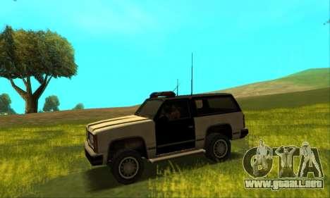 Beta Police Ranger para GTA San Andreas vista hacia atrás