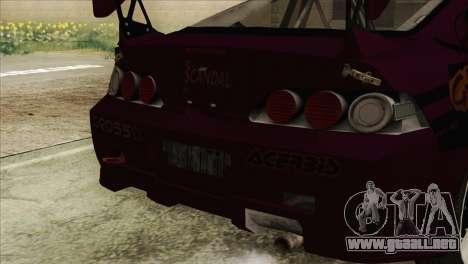 Acura RSX Hinata Itasha para la visión correcta GTA San Andreas