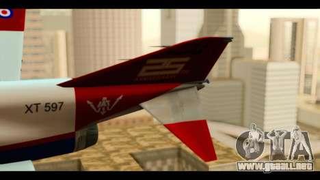 McDonnell Douglas F-4E Phantom II para GTA San Andreas vista posterior izquierda