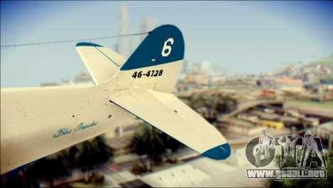 P-39N Airacobra JASDF Blue Impulse para GTA San Andreas vista posterior izquierda