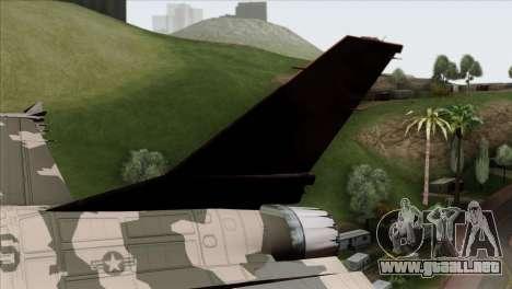 F-16C Top Gun para GTA San Andreas vista posterior izquierda