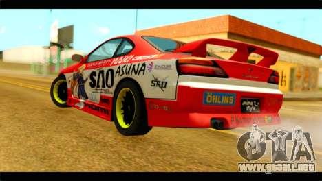 Nissan Silvia S14 Yuuki Asuna Itasha para GTA San Andreas left