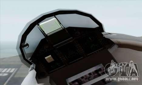 MIG 1.44 Flatpack Russian Air Force para la visión correcta GTA San Andreas
