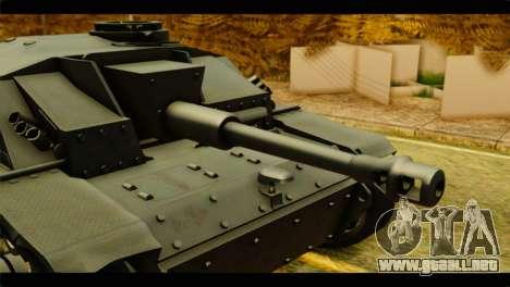 StuG III Ausf. G Girls und Panzer para GTA San Andreas vista posterior izquierda