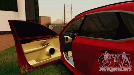 Lexus NX200T v2 para vista lateral GTA San Andreas