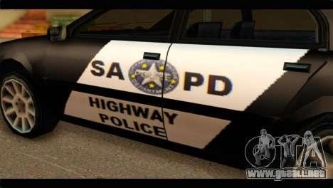 Stratum Police Highway v1.0 para la visión correcta GTA San Andreas