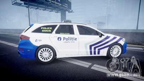 Ford Fusion Estate Belgian Police [ELS] Dog Unit para GTA 4 left