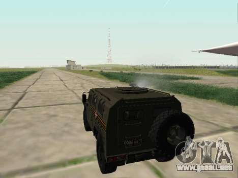 GAZ 2330 Frente para visión interna GTA San Andreas