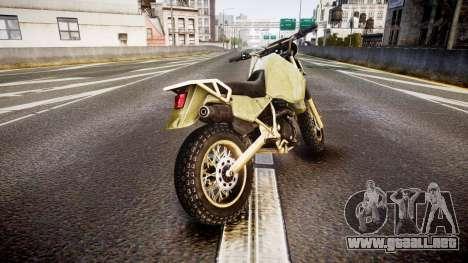 Dirt Bike para GTA 4 Vista posterior izquierda