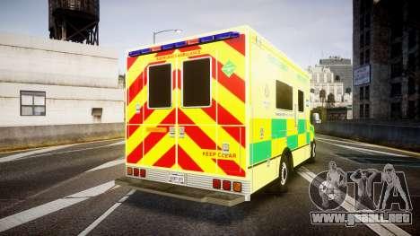 Mercedes-Benz Sprinter Ambulance [ELS] para GTA 4 Vista posterior izquierda