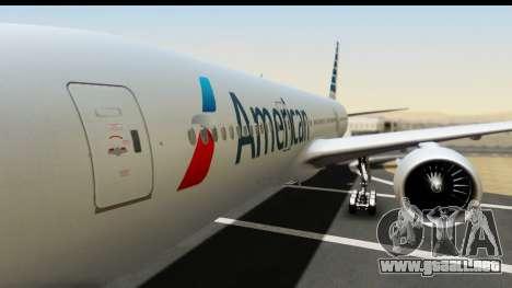 Boeing 777-200ER American Airlines para GTA San Andreas vista hacia atrás