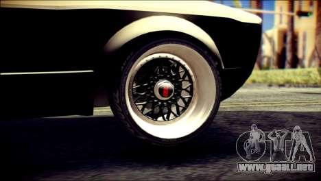 Volkswagen Caddy Widebody Top-Chop para GTA San Andreas vista posterior izquierda