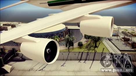 Airbus A380-800 Fly Emirates Airline para la visión correcta GTA San Andreas