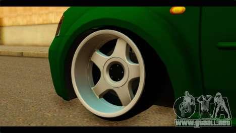 Dacia Logan Stance para GTA San Andreas vista posterior izquierda
