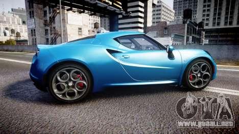 Alfa Romeo 4C 2014 HD Textures para GTA 4 left