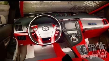 Toyota Prius Hybrid Eri Ayase Love Live Itasha para visión interna GTA San Andreas