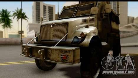 International MaxxPro MRAP para GTA San Andreas vista posterior izquierda