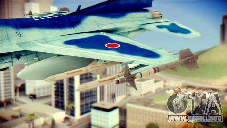 Mitsubishi F-2A JASDF v3.0 para la visión correcta GTA San Andreas