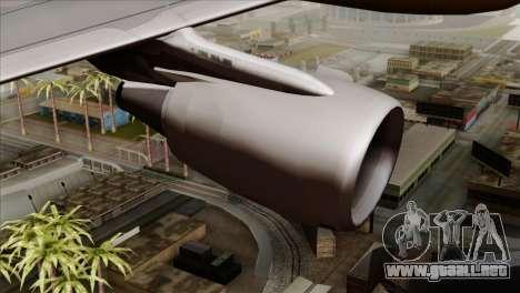 Airbus A320-200 MTN para la visión correcta GTA San Andreas