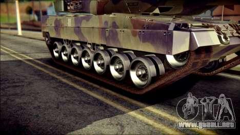 Leopard 2A6 PJ para GTA San Andreas vista posterior izquierda