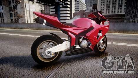 Honda CBR600RR para GTA 4 left