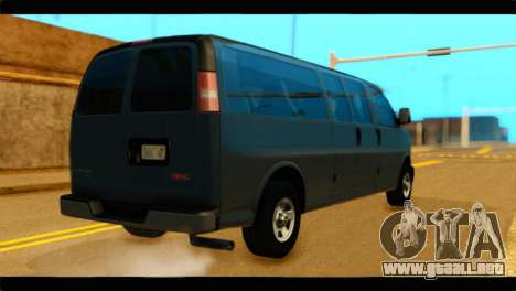 GMC Savana 3500 Passenger 2013 para GTA San Andreas left