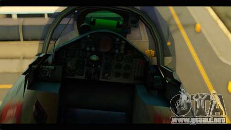 Mitsubishi F-4J JASDF para GTA San Andreas vista hacia atrás