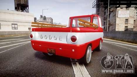 Dodge A100 Pickup 1964 para GTA 4 Vista posterior izquierda