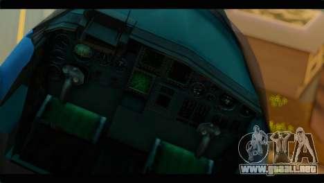 SU-34 Fullback Russian Air Force Camo Blue para GTA San Andreas vista hacia atrás