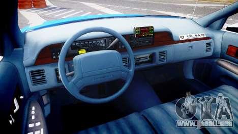 Chevrolet Caprice 1994 LCPD Patrol [ELS] para GTA 4 vista hacia atrás