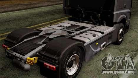 Mercedes-Benz Actros MP4 Euro 6 para GTA San Andreas vista hacia atrás