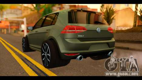 Volkswagen Golf Mk7 2014 para GTA San Andreas left