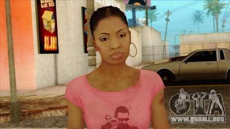 Rochelle from Left 4 Dead 2 para GTA San Andreas tercera pantalla