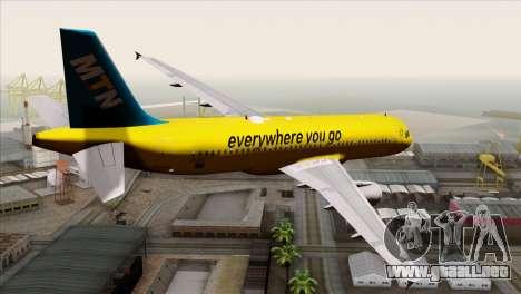 Airbus A320-200 MTN para GTA San Andreas left