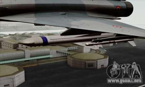 Dassault Mirage 2000-5 ACAH para la visión correcta GTA San Andreas