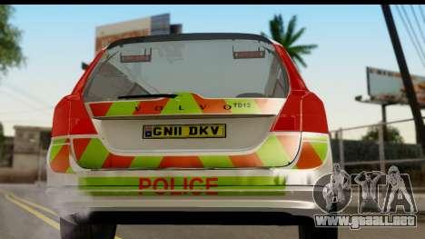 Volvo V70 Kent Police para la visión correcta GTA San Andreas