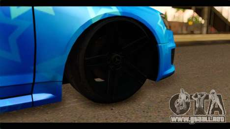 Audi RS6 VIP Star para GTA San Andreas vista posterior izquierda