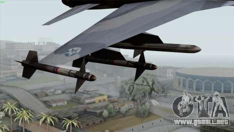 Northrop F-5E Tiger II Wardog Squadron para la visión correcta GTA San Andreas
