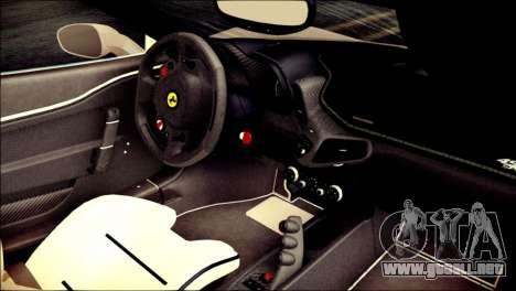 Ferrari 458 Speciale 2015 HQ para la visión correcta GTA San Andreas