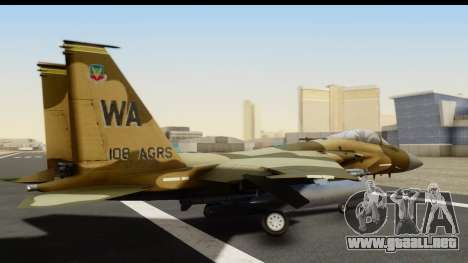 F-15C Eagle Desert Aggressor para GTA San Andreas left
